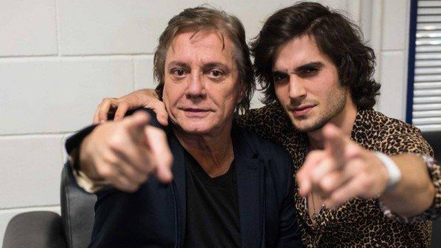 Fábio Jr. e Fiuk fazem show juntos em shopping de Goiânia