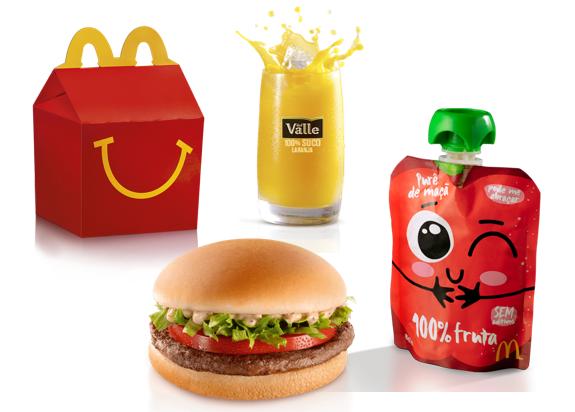 McDonald's muda cardápio do McLanche Feliz para torná-lo ainda mais nutritivo