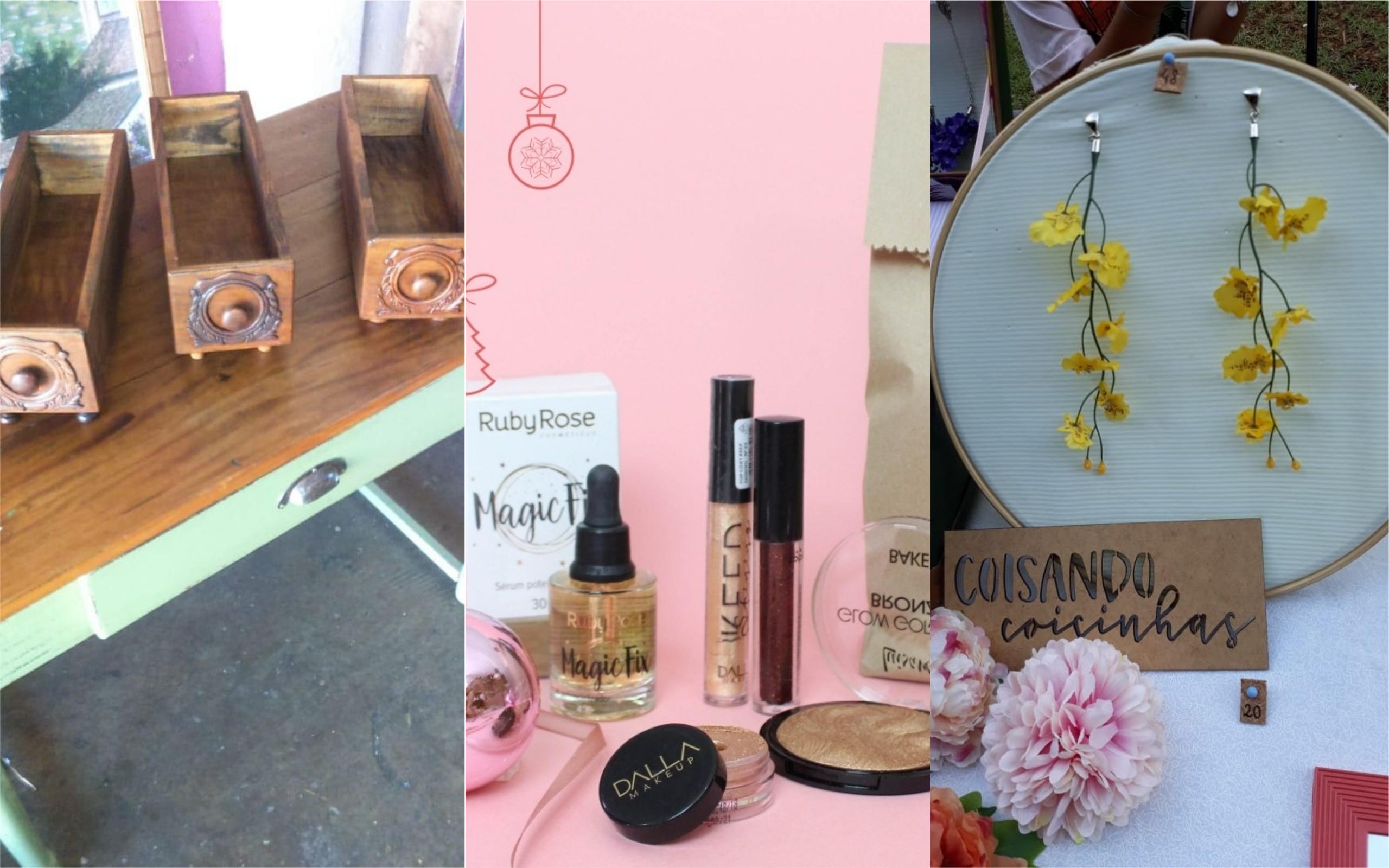 """Feira """"Quintal Criativo"""" reúne roupas, maquiagem e acessórios neste sábado (22)"""