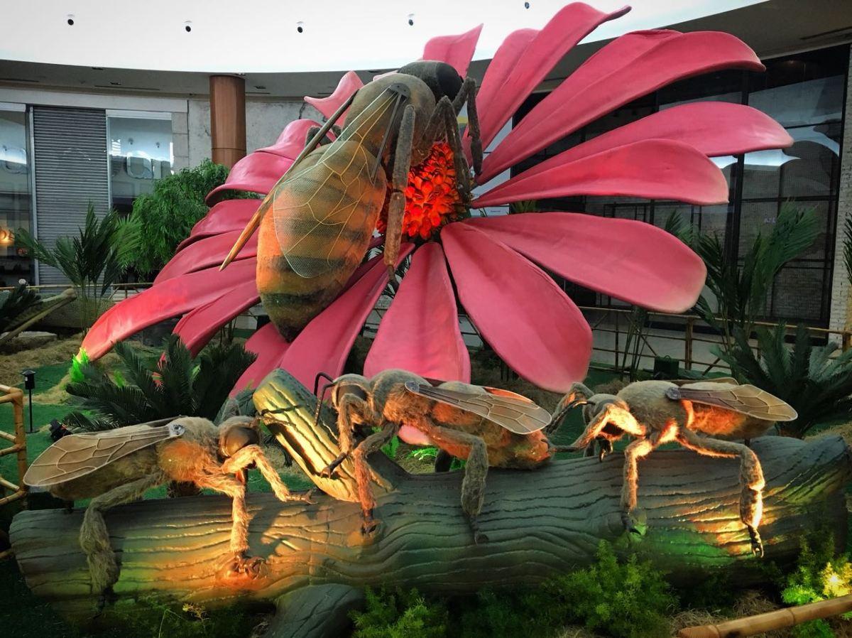 Exposição Jardim dos Insetos Gigantes invade shopping em Goiânia