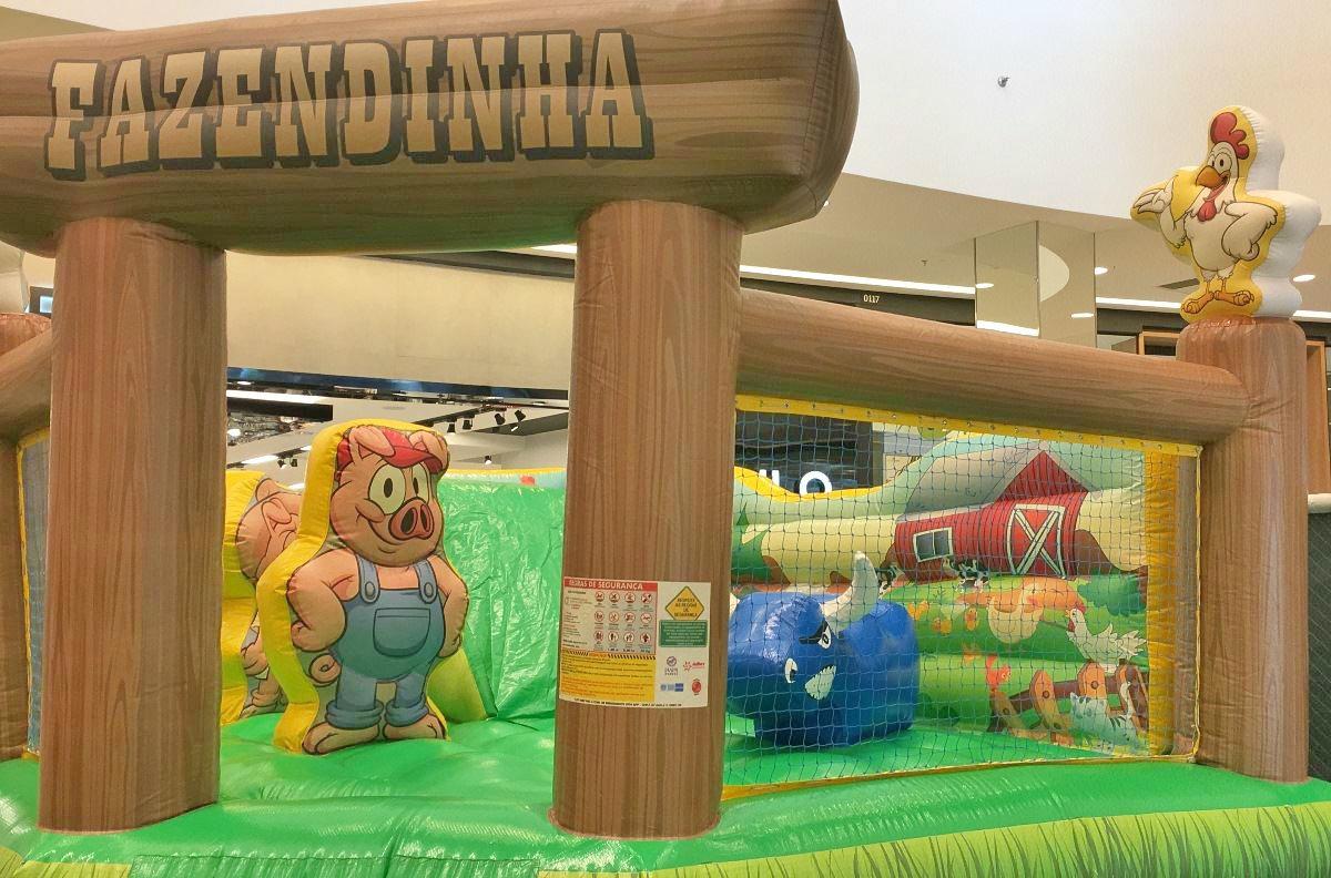 Shopping em Goiânia recebe atração inspirada no tema 'Fazendinha'