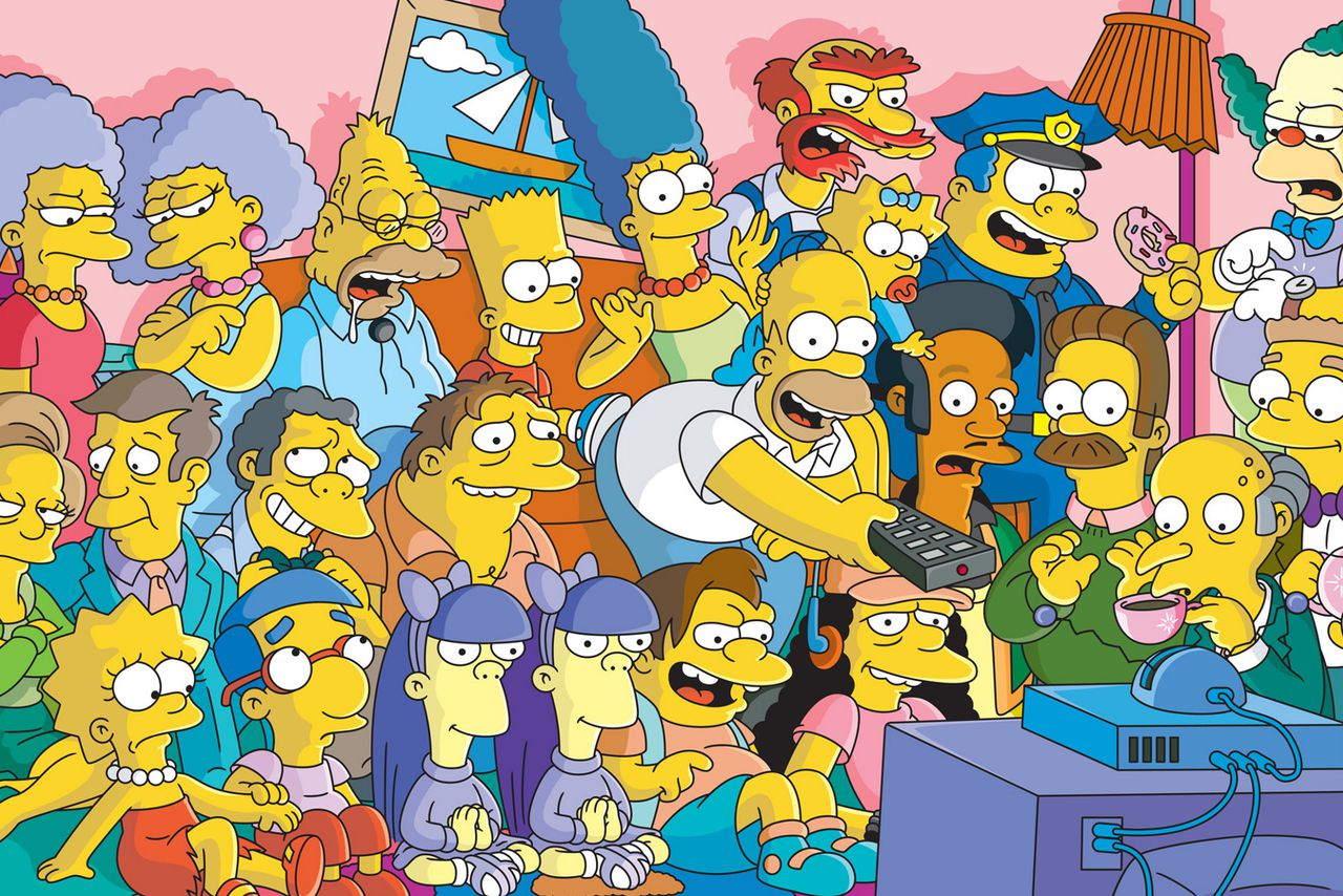 Apliquei Simpsons na minha filha e ela está adorando