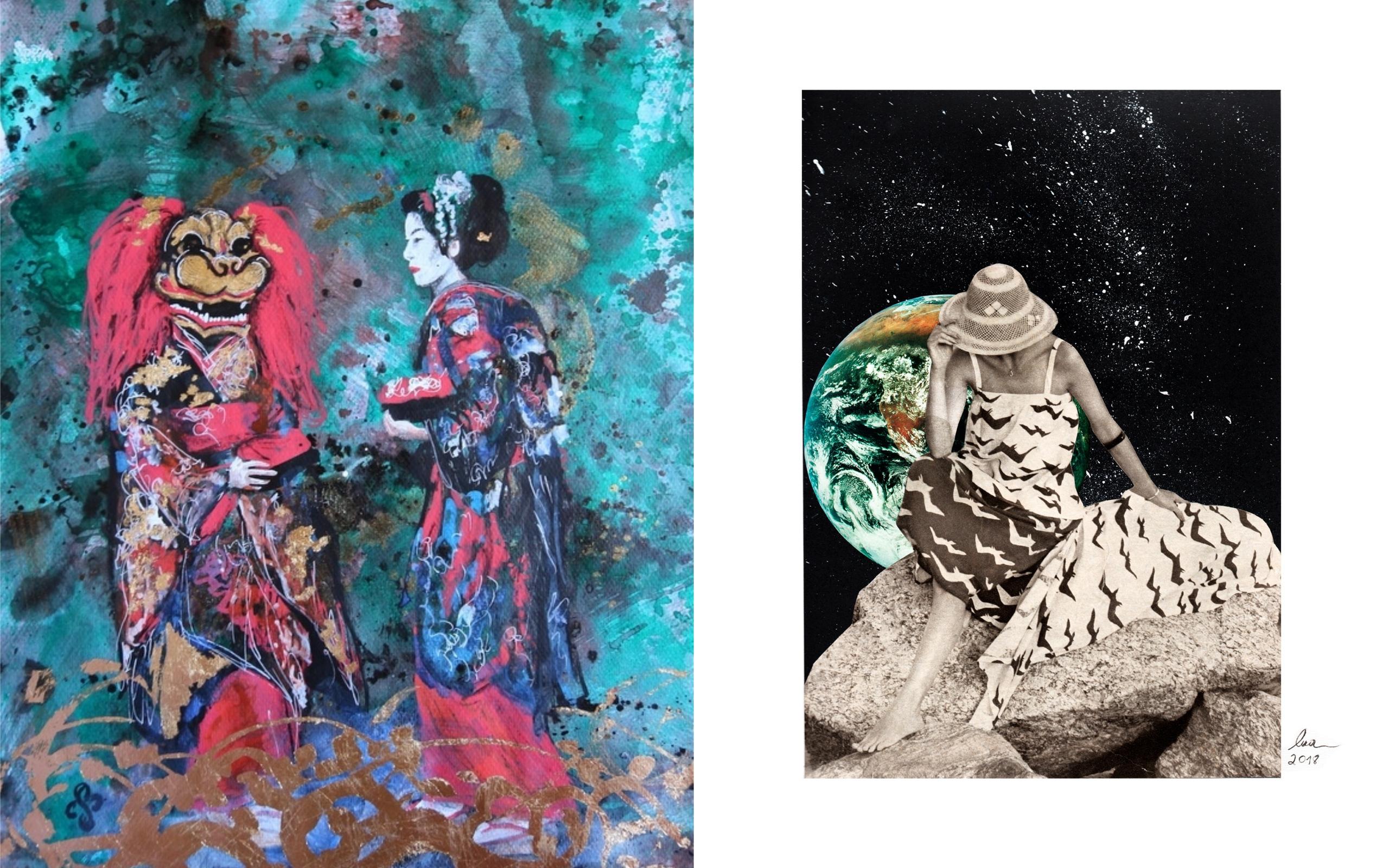 Café Cariño recebe exposição de arte feita por mulheres