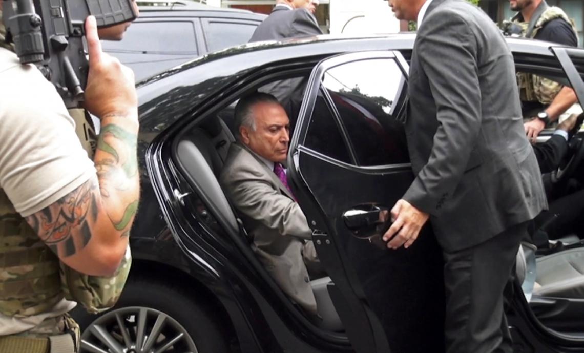 Sétimo ex-presidente do Brasil preso por corrupção ontem