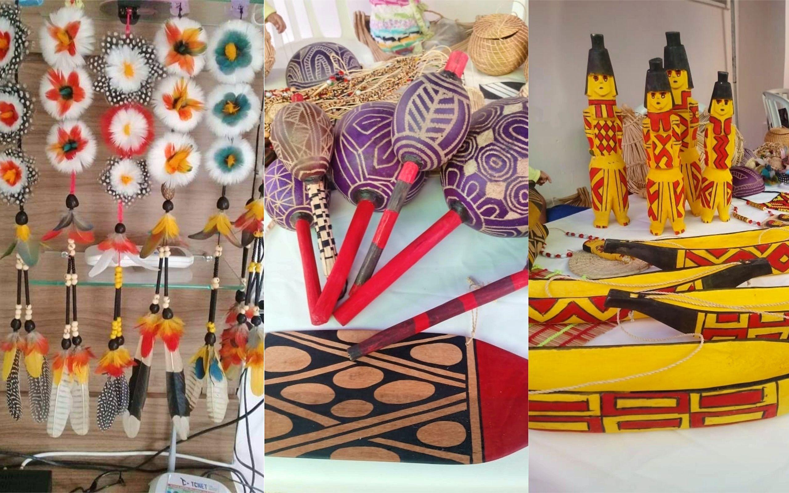 Shopping de Goiânia recebe exposição de artesanato indígena