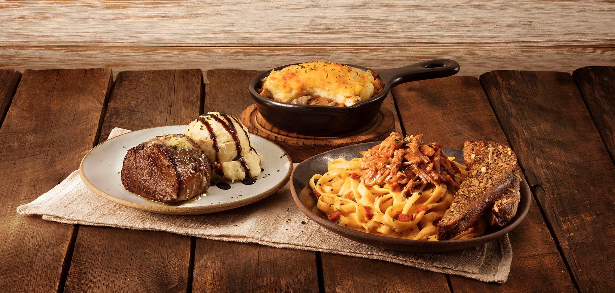 Outback lança três pratos exclusivos de almoço por R$ 39 em Goiânia