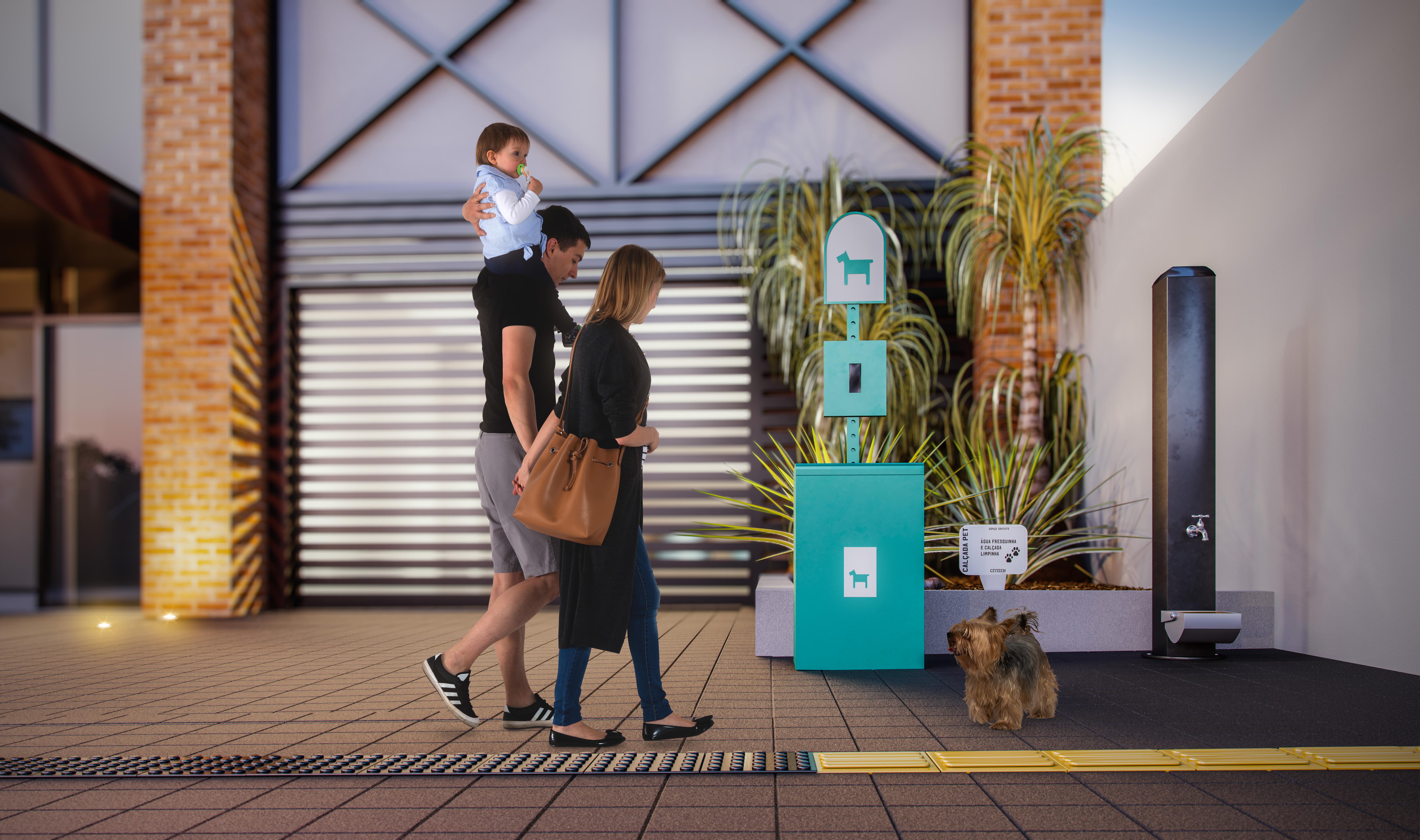 Empreendimento cria calçada pública para pets em Goiânia