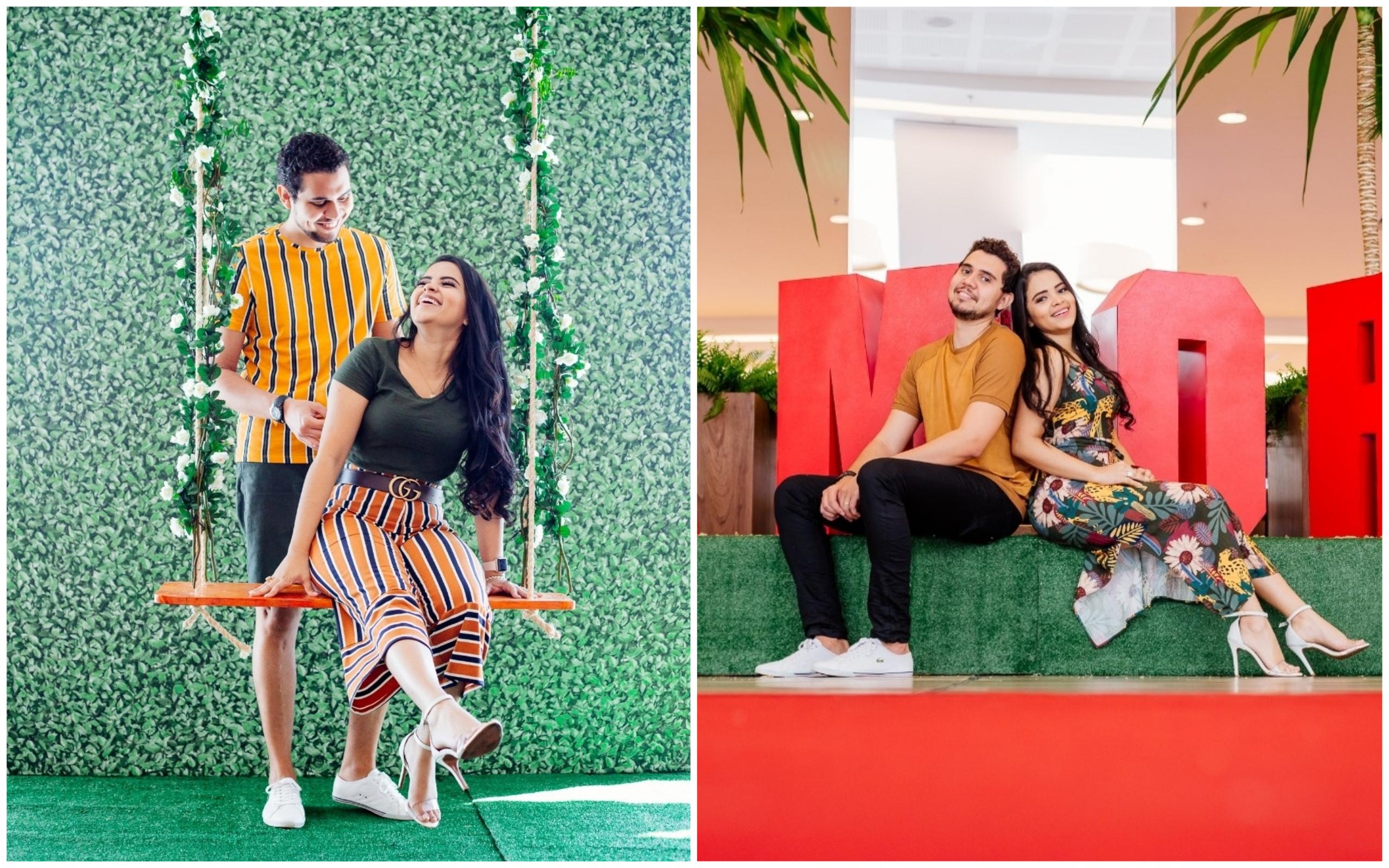 Shopping de Goiânia promove campanha do Dia dos Namorados com cenários para fotos