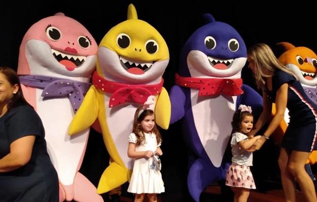 Baby Shark realiza show ao vivo em Goiânia
