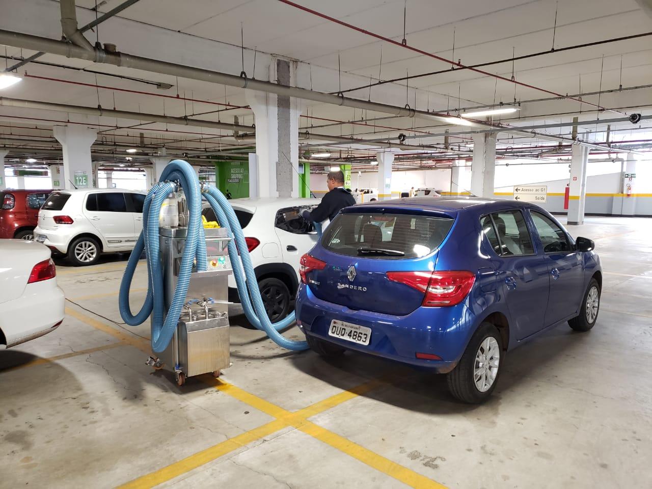 Combate ao coronavírus: Goiânia Shopping é parceiro na desinfecção gratuita de carros